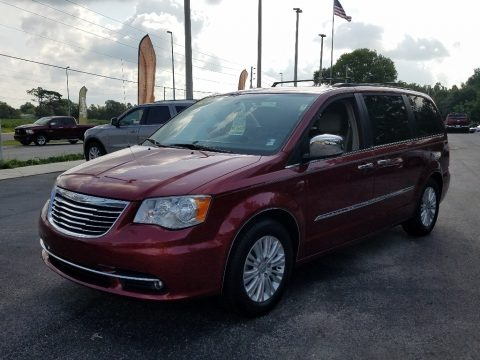 Deep Cherry Red Crystal Pearl 2012 Chrysler Town & Country Touring - L