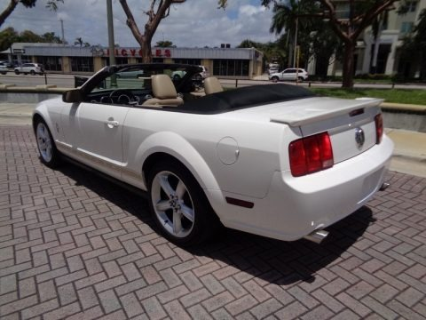 Performance White 2007 Ford Mustang V6 Premium Convertible