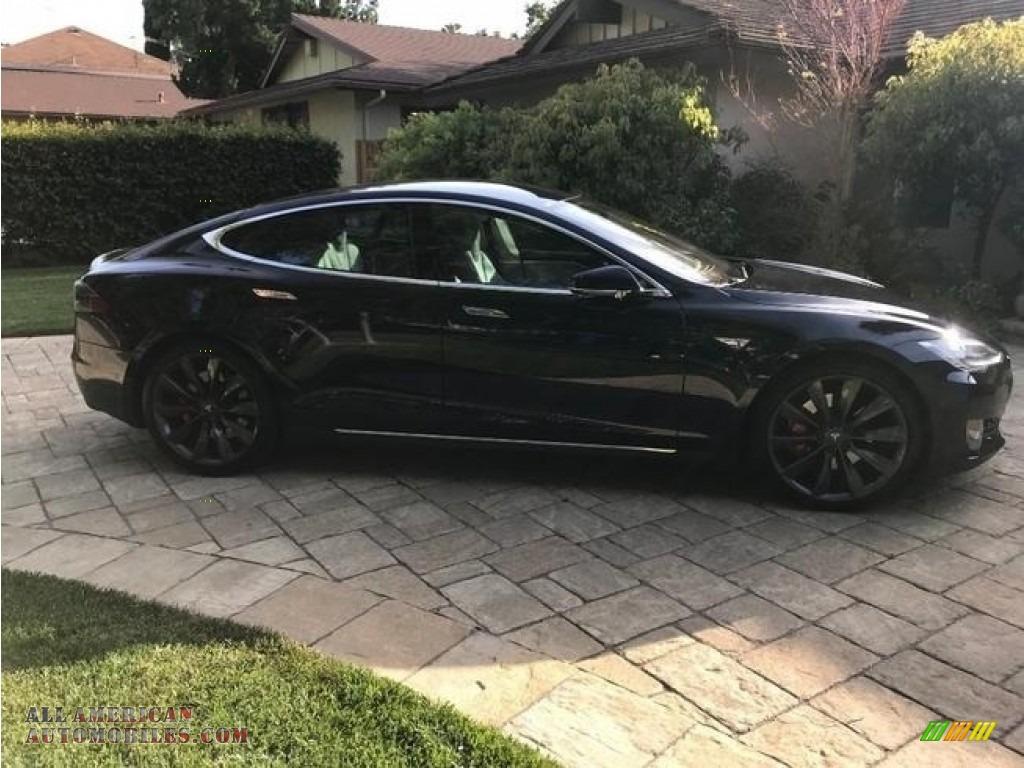 2014 Model S P85D Performance - Blue Metallic / Gray photo #1