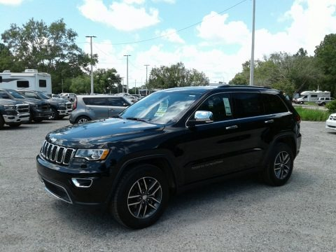 Diamond Black Crystal Pearl 2018 Jeep Grand Cherokee Limited