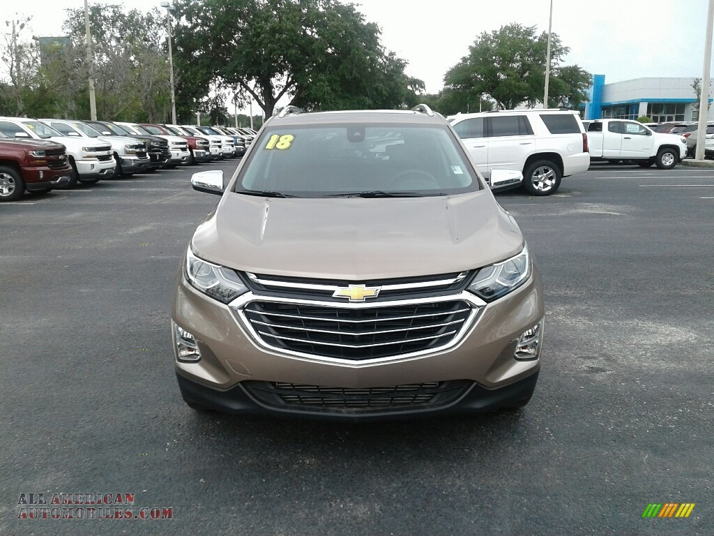 2018 Equinox Premier - Sandy Ridge Metallic / Jet Black photo #8
