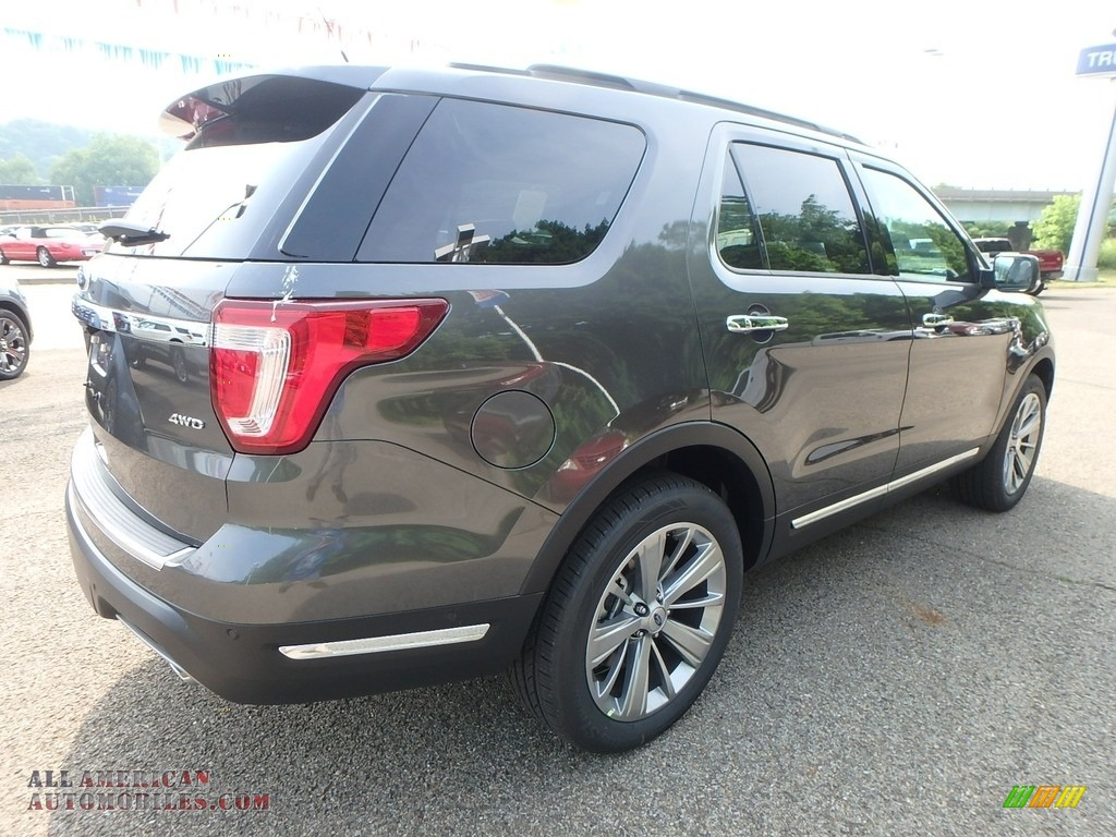 2018 Explorer Limited 4WD - Magnetic Metallic / Ebony Black photo #3