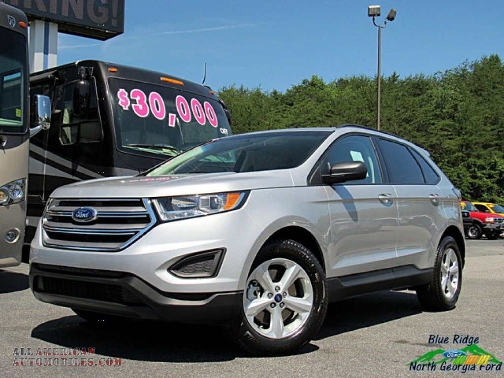 Ingot Silver / Ebony Ford Edge SE AWD