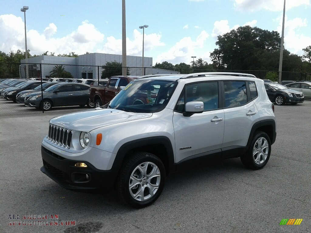 Glacier Metallic / Black/Ski Grey Jeep Renegade Limited 4x4
