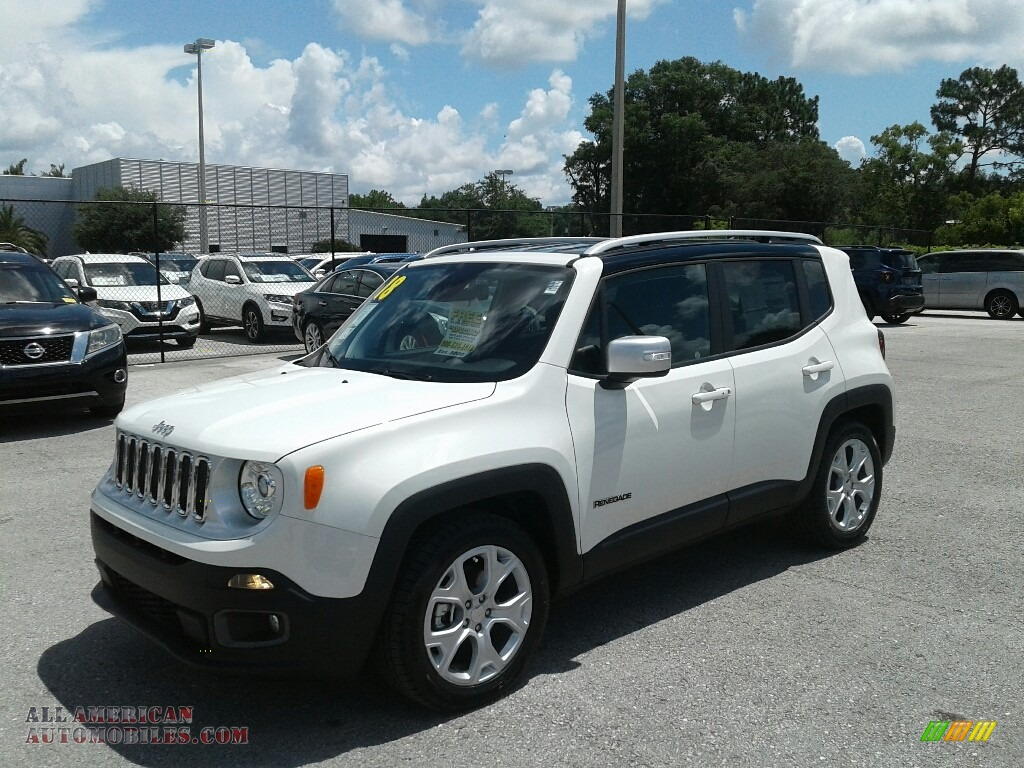 2018 Renegade Limited - Alpine White / Black photo #1