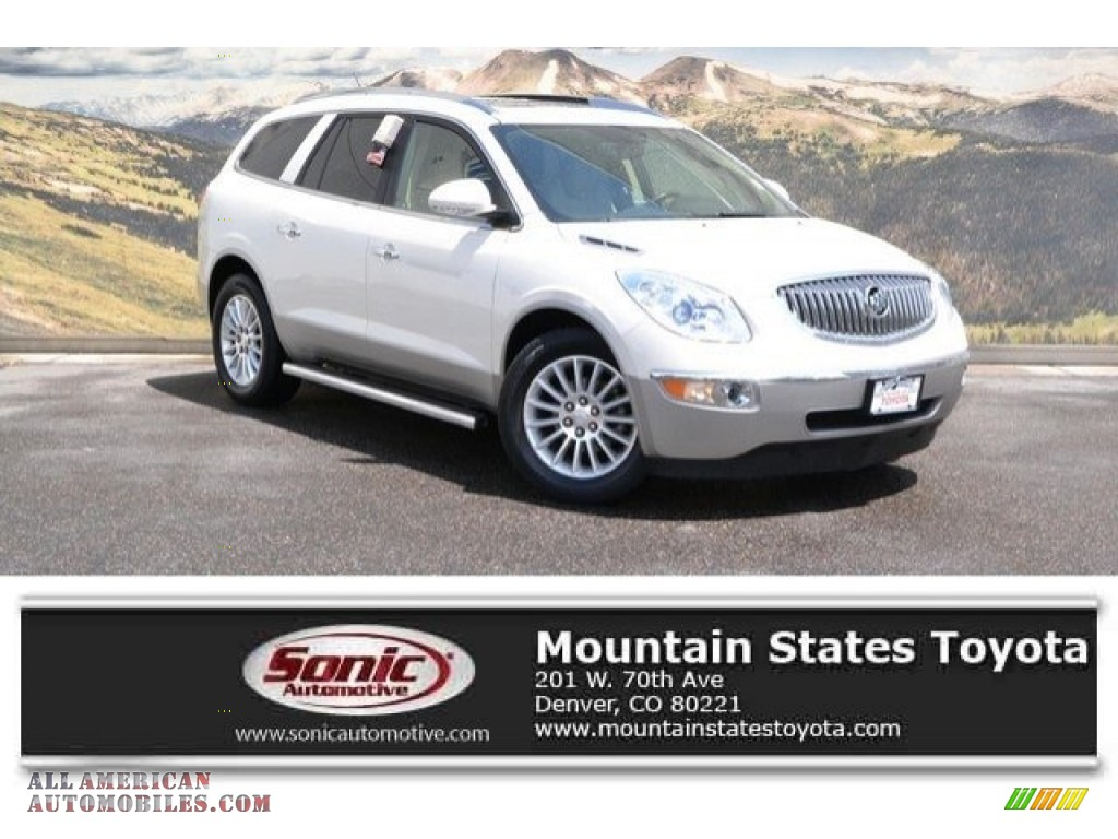 2011 Enclave CXL AWD - White Diamond Tricoat / Cashmere/Cocoa photo #1