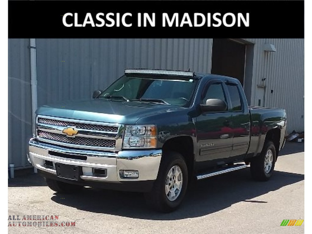 2013 Silverado 1500 LT Extended Cab 4x4 - Blue Granite Metallic / Ebony photo #1