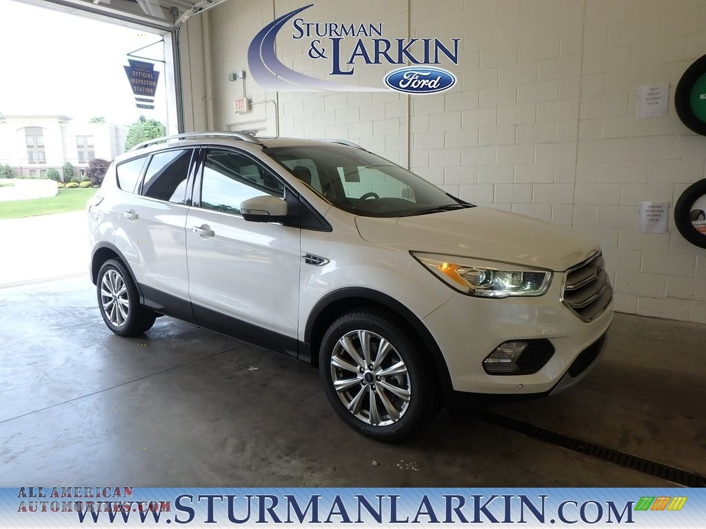 2018 Escape Titanium 4WD - White Platinum / Charcoal Black photo #1