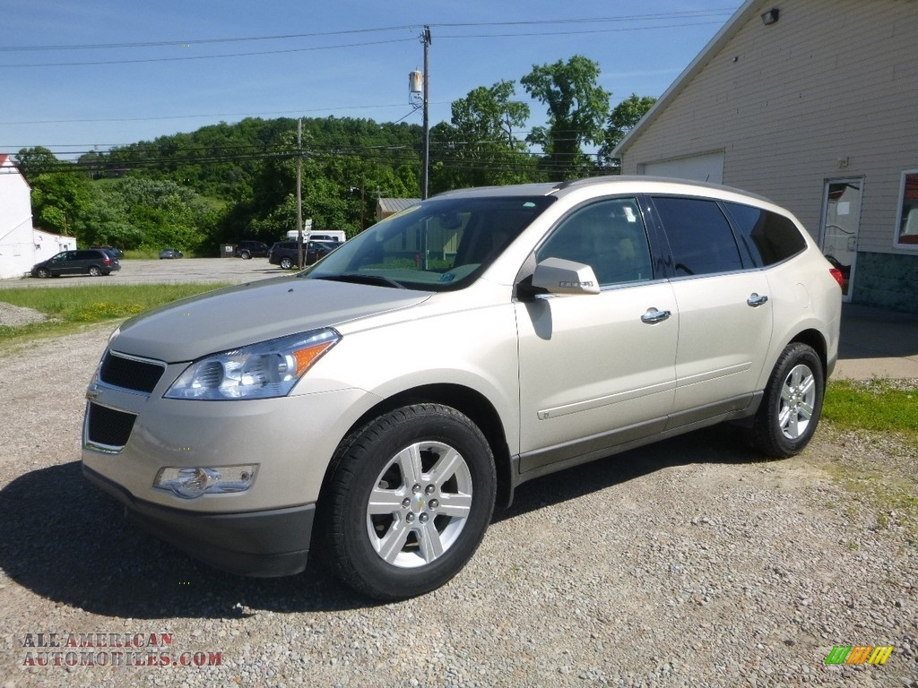 2010 Traverse LT AWD - Gold Mist Metallic / Ebony photo #1