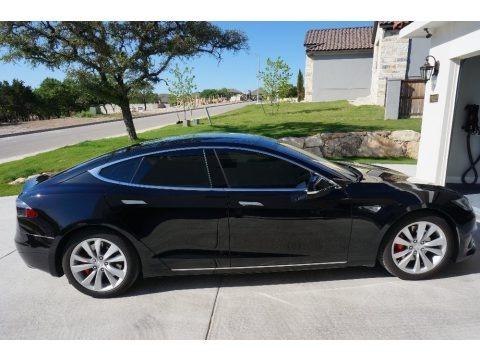 Solid Black 2016 Tesla Model S P90D