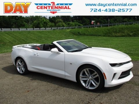 Summit White 2018 Chevrolet Camaro LT Convertible