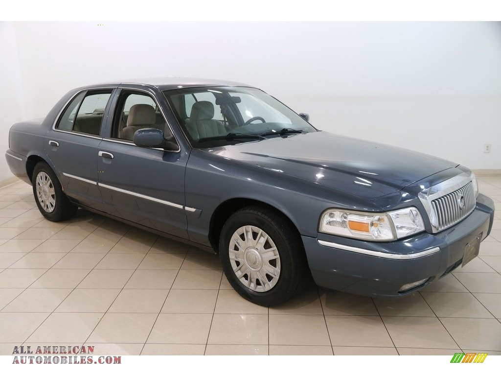 2008 Grand Marquis GS - Norsea Blue Metallic / Medium Light Stone photo #1