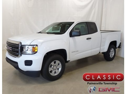 Summit White 2018 GMC Canyon Extended Cab