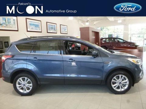 Blue Metallic 2018 Ford Escape SEL 4WD