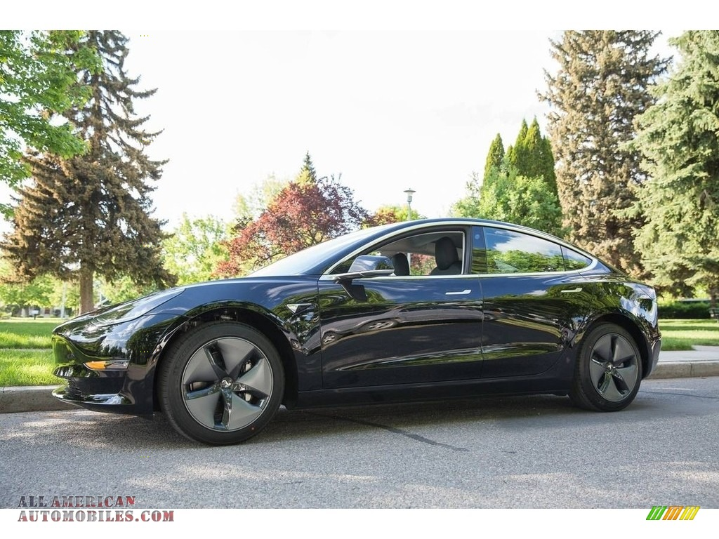 2018 Model 3 Long Range - Black / Black photo #1