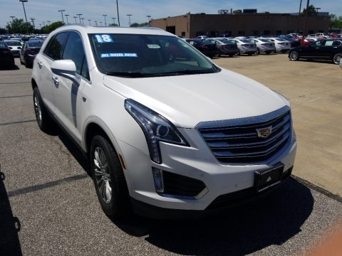 Crystal White Tricoat 2018 Cadillac XT5 Luxury AWD