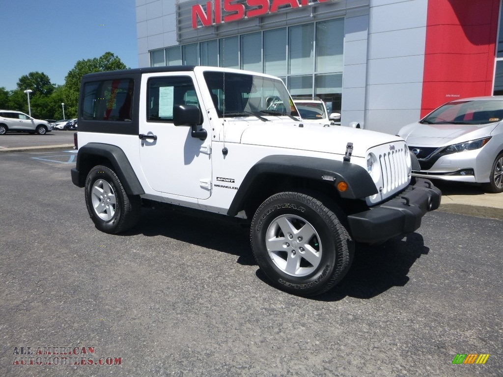 2016 Wrangler Sport - Bright White / Black photo #1