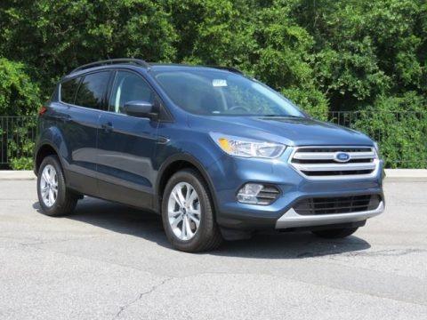 Blue Metallic 2018 Ford Escape SE