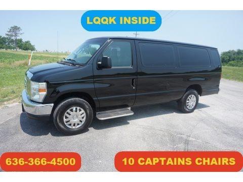 Black 2014 Ford E-Series Van E350 XLT Extended 15 Passenger Van