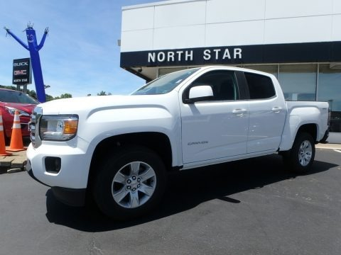 Summit White 2018 GMC Canyon SLE Crew Cab 4x4