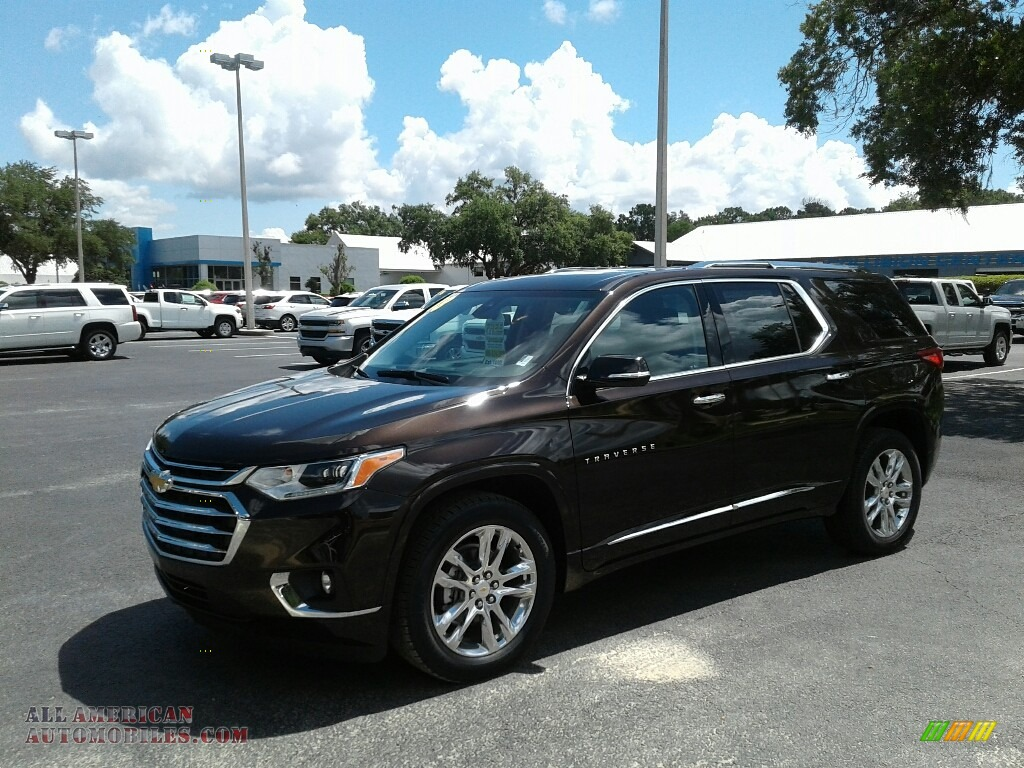 Sable Brown Metallic / High Country Jet Black/Loft Brown Chevrolet Traverse High Country AWD