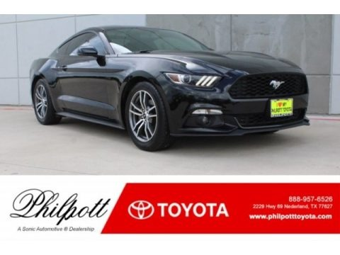 Black 2015 Ford Mustang EcoBoost Coupe