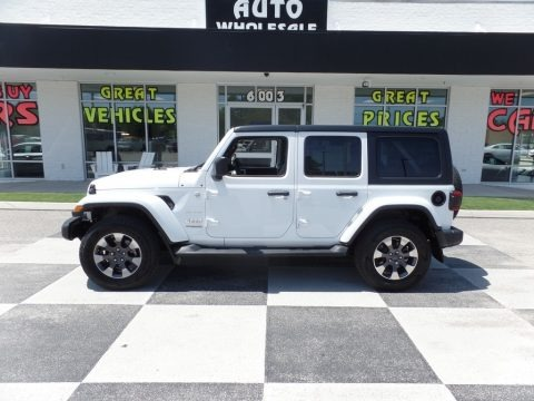 Bright White 2018 Jeep Wrangler Unlimited Sahara 4x4