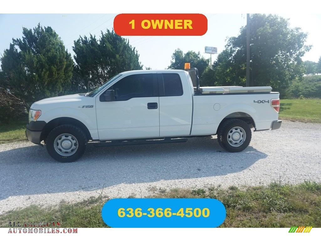 2014 F150 XL SuperCab 4x4 - Oxford White / Steel Grey photo #1