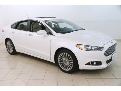 White Platinum Metallic 2015 Ford Fusion Titanium