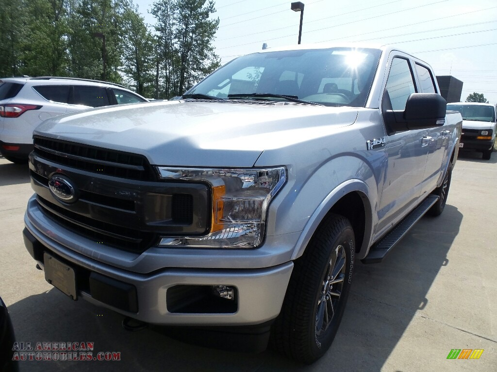 Ingot Silver / Black Ford F150 XLT SuperCrew 4x4