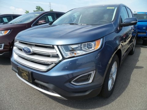 Blue 2018 Ford Edge SEL AWD