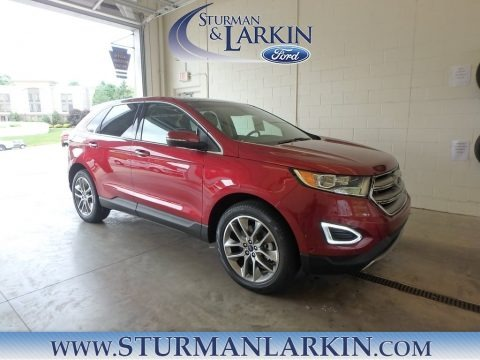 Ruby Red 2018 Ford Edge Titanium AWD