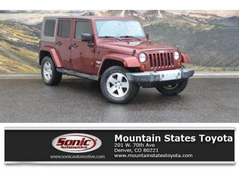 Red Rock Crystal Pearl 2008 Jeep Wrangler Unlimited Sahara 4x4