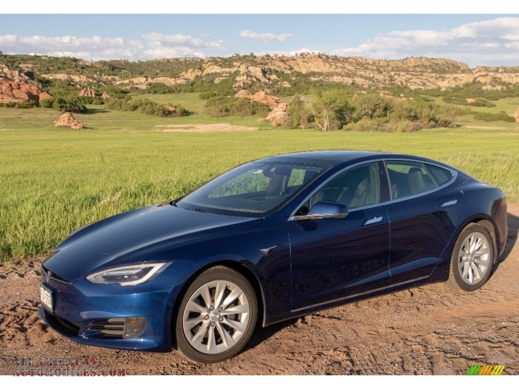 2016 Model S 75D - Deep Blue Metallic / Black photo #1
