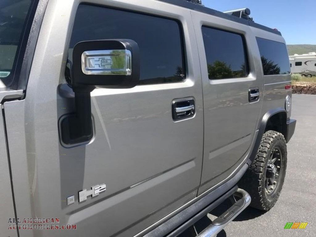 2009 H2 SUV - Graystone Metallic / Ebony Black photo #18