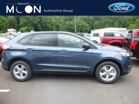 Blue 2018 Ford Edge SE AWD