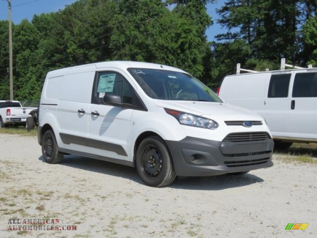 Frozen White / Charcoal Black Ford Transit Connect XL Van