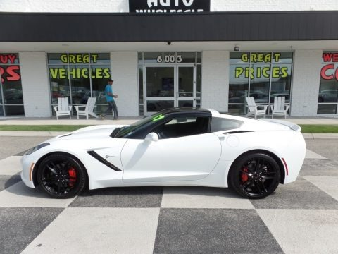Arctic White 2017 Chevrolet Corvette Stingray Coupe