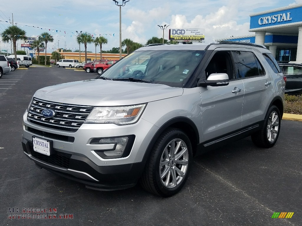 2017 Explorer Limited 4WD - Ingot Silver / Ebony Black photo #1