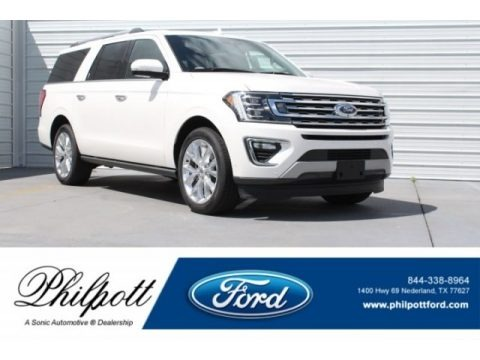 White Platinum 2018 Ford Expedition Limited Max