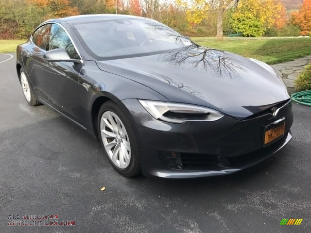 2016 Model S 75D - Midnight Silver Metallic / Black photo #1