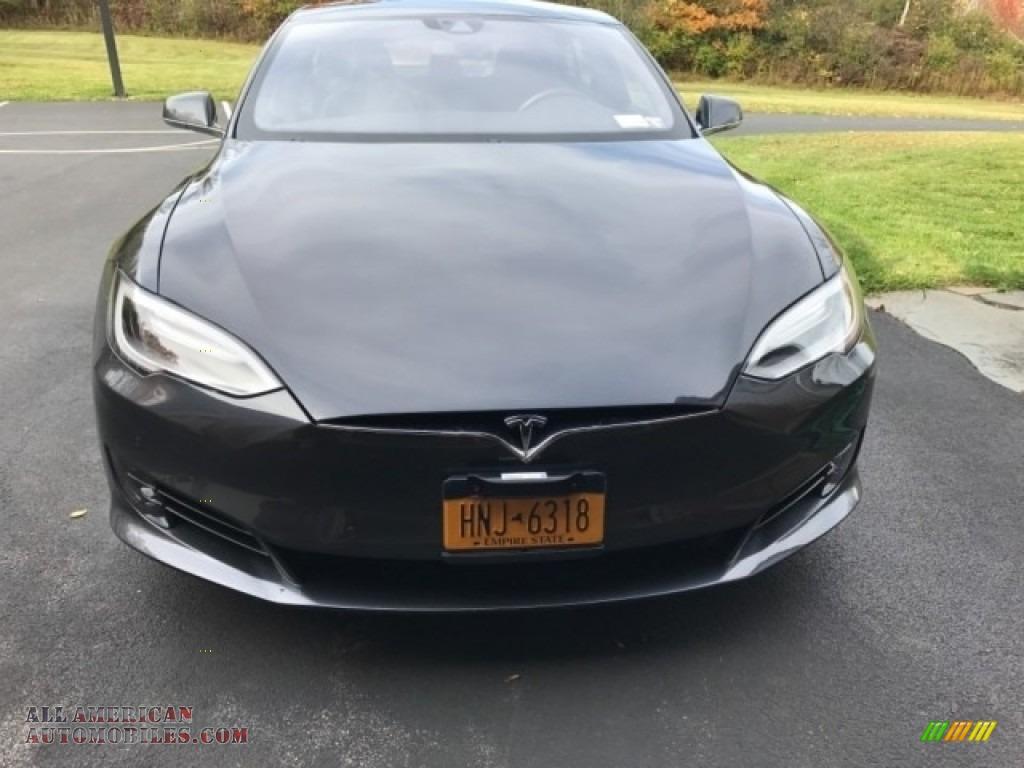 2016 Model S 75D - Midnight Silver Metallic / Black photo #4