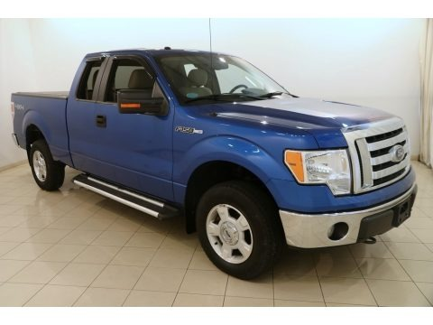 Blue Flame Metallic 2010 Ford F150 XLT SuperCab 4x4