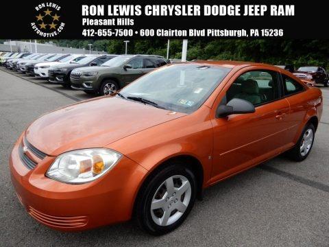 Sunburst Orange Metallic 2007 Chevrolet Cobalt LS Coupe