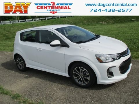 Summit White 2018 Chevrolet Sonic LT Hatchback
