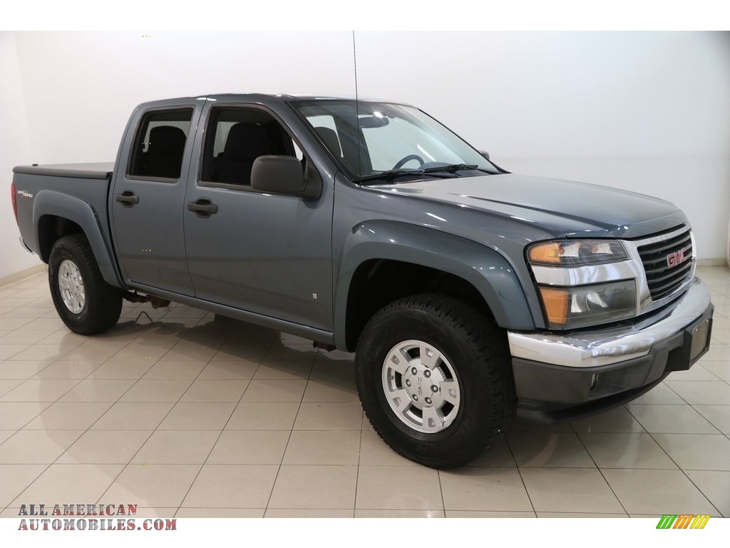 2007 Canyon SLE Crew Cab 4x4 - Stealth Gray Metallic / Dark Pewter photo #1