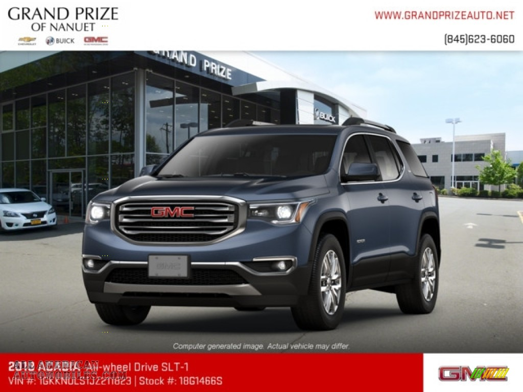 2018 Acadia SLT AWD - Blue Steel Metallic / Jet Black photo #1