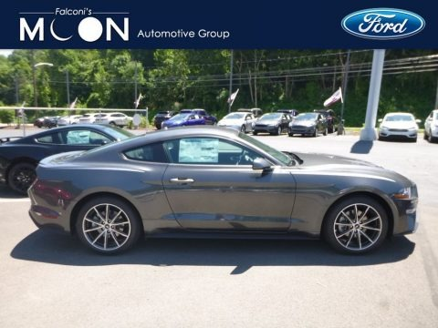 Lead Foot Gray 2018 Ford Mustang EcoBoost Fastback