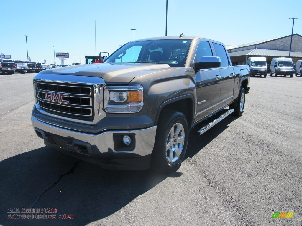 2014 Sierra 1500 SLT Crew Cab 4x4 - Bronze Alloy Metallic / Cocoa/Dune photo #1