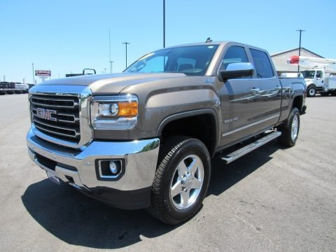 Bronze Alloy Metallic 2015 GMC Sierra 2500HD SLT Crew Cab 4x4